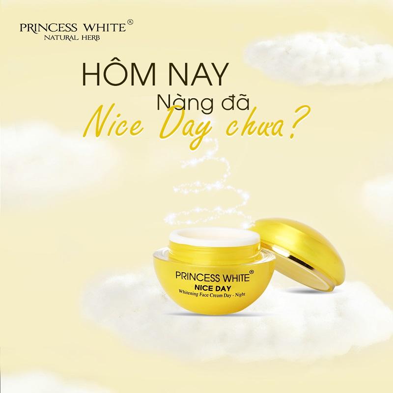 Kem dưỡng trắng da mặt NICE DAY – PRINCESS WHITE